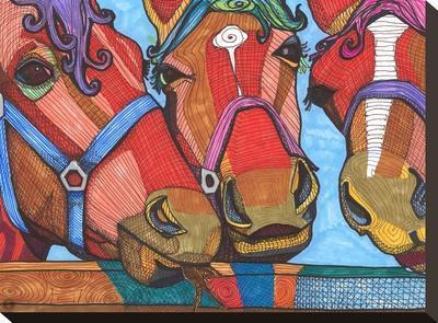 3 Horses Lena & Joanna-Solveig Studio-Stretched Canvas Print