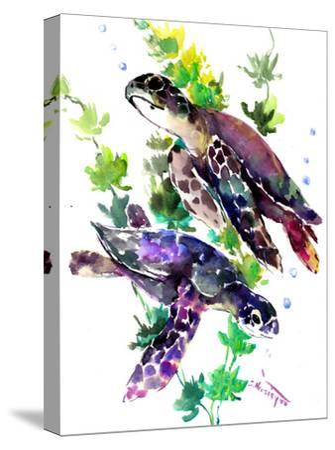 Turtle-Suren Nersisyan-Stretched Canvas Print