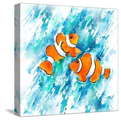 Clown Fish-Rachel McNaughton-Stretched Canvas Print