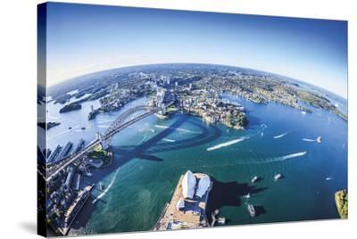 Aerial View of Sydney-Berthold Dieckfoss-Stretched Canvas Print