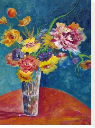 Flores De Fiesta-Sunshine Taylor-Stretched Canvas Print