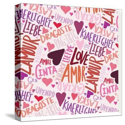 Love Languages-Leah Flores-Stretched Canvas Print