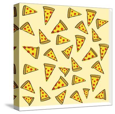 Pizza Party-Leah Flores-Stretched Canvas Print