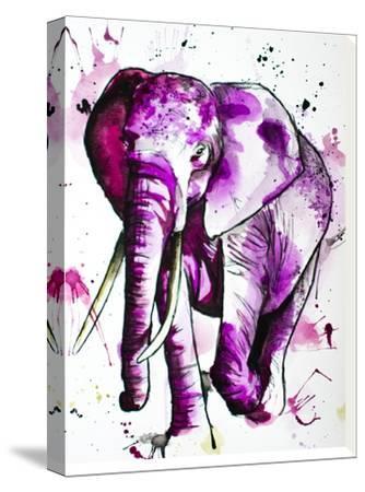 Purple Elephant-Allison Gray-Stretched Canvas Print
