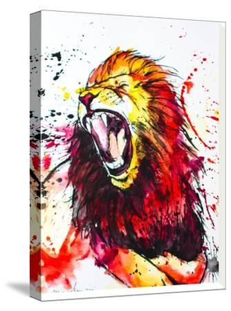 Roaring Lion-Allison Gray-Stretched Canvas Print