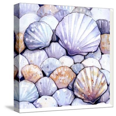 Scallop Shells Amethyst-Sam Nagel-Stretched Canvas Print