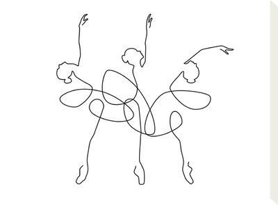 Ballet x3-Explicit Design-Stretched Canvas Print