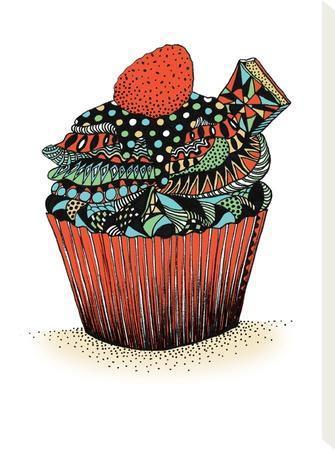 Cupcake-Patricia Pino-Stretched Canvas Print
