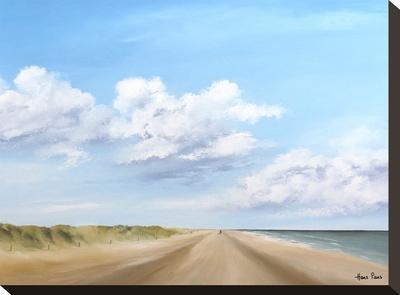 A Walk Along The Beach 3-Hans Paus-Stretched Canvas Print