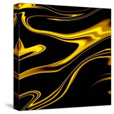 Black Champagne-Ashley Camille-Stretched Canvas Print