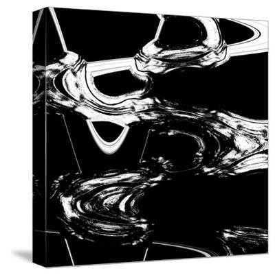 Displaced Black And White-Ashley Camille-Stretched Canvas Print