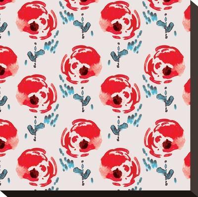Flower Parade-Rebecca Prinn-Stretched Canvas Print