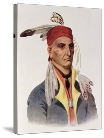 """Shin-Ga-Ba W""""Ossin or """"Image Stone,"""" a Chippeway Chief-James Otto Lewis-Stretched Canvas Print"""