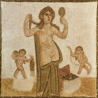 Venus at Her Toilet, from Thuburbo-Majus, Roman, 3rd Century AD--Stretched Canvas Print