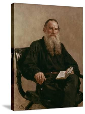 Lev Tolstoy (1828-1810) 1887-Ilya Efimovich Repin-Stretched Canvas Print
