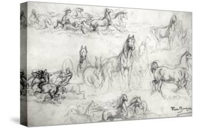 Study of Horses-Rosa Bonheur-Stretched Canvas Print