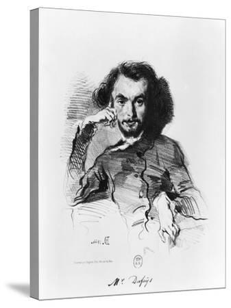 Charles Baudelaire (1821-67) 1844-Emile Deroy-Stretched Canvas Print
