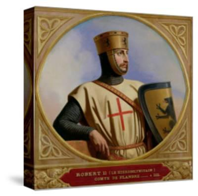 Robert II Le Hierosolymitain, Count of Flanders (D.1111) 1843-Henri Decaisne-Stretched Canvas Print