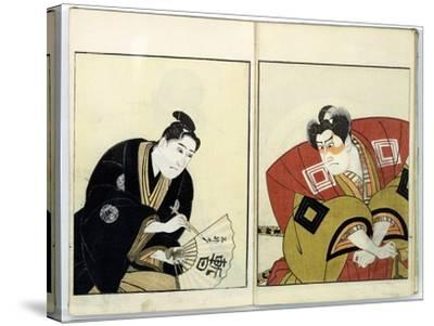 Portraits of Two Actors, 1803- Toyokuni-Stretched Canvas Print