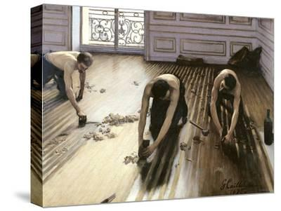 The Parquet Planers, 1875-Gustave Caillebotte-Stretched Canvas Print