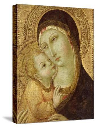 Madonna and Child-Sano di Pietro-Stretched Canvas Print