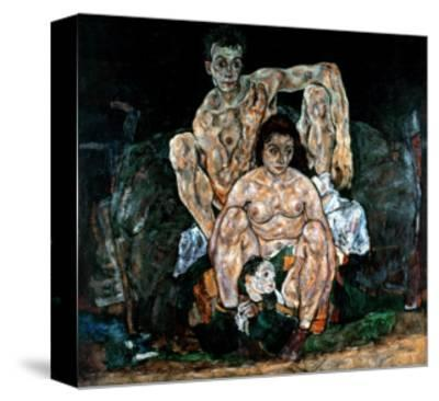 The Artist's Family-Egon Schiele-Stretched Canvas Print