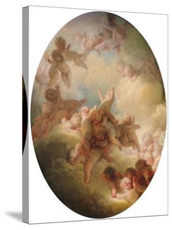 The Swarm of Cupids, circa 1767-Jean-Honor? Fragonard-Stretched Canvas Print