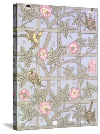 """Trellis"" Wallpaper Design, 1864-William Morris-Stretched Canvas Print"
