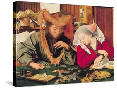 The Money Changer and His Wife, 1539-Marinus van Roejmerswaelen-Stretched Canvas Print
