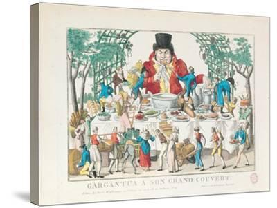 Gargantua at His Table--Stretched Canvas Print
