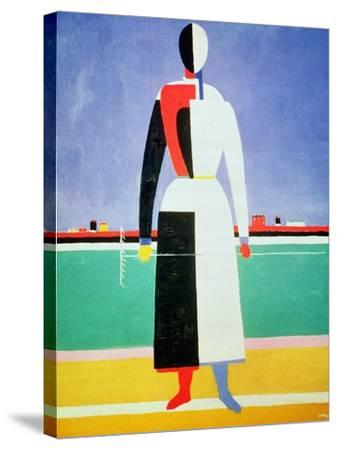 Woman with a Rake, circa 1928-32-Kasimir Malevich-Stretched Canvas Print