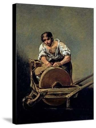 The Knife-Grinder, 1808-12-Francisco de Goya-Stretched Canvas Print