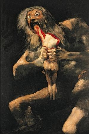 Saturn Devouring One of His Children, 1821-23-Francisco de Goya-Stretched Canvas Print