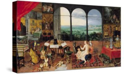 Hearing, 1617-Jan Brueghel the Elder-Stretched Canvas Print