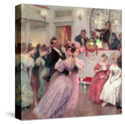 Strauss and Lanner, the Ball, 1906-Charles Wilda-Stretched Canvas Print