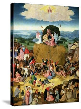 The Haywain: Central Panel of the Triptych, circa 1500-Hieronymus Bosch-Stretched Canvas Print