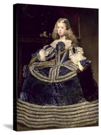 Infanta Margarita (1651-73) in Blue, 1659-Diego Velazquez-Stretched Canvas Print