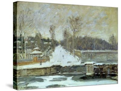 The Watering Place at Marly-Le-Roi, 1875-Alfred Sisley-Stretched Canvas Print