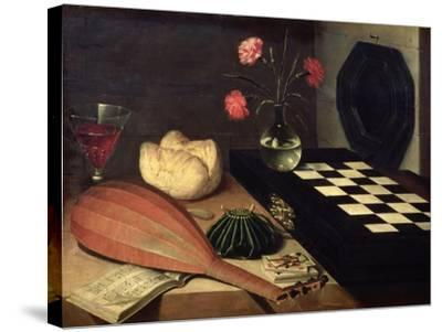 Still Life with Chess-Board, 1630-Lubin Baugin-Stretched Canvas Print