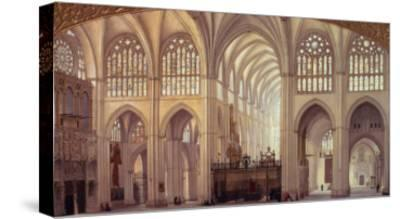 The Interior of Toledo Cathedral, 1856-Francisco Hernandez Y Tome-Stretched Canvas Print