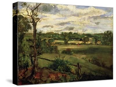 View of Highgate from Hampstead Heath, circa 1834-John Constable-Stretched Canvas Print
