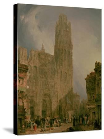 West Front of Notre Dame, Rouen-David Roberts-Stretched Canvas Print