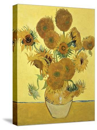 Vase of Fifteen Sunflowers, c.1888-Vincent van Gogh-Stretched Canvas Print
