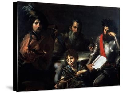 The Four Ages of Man, circa 1626-7-Valentin de Boulogne-Stretched Canvas Print