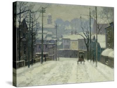 Twilight in Gloucester-Paul Cornoyer-Stretched Canvas Print