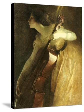 A Ray of Sunlight (The Cellist), 1898-John White Alexander-Stretched Canvas Print