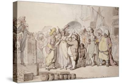 A Sale of English Beauties in the East Indies, circa 1810-Thomas Rowlandson-Stretched Canvas Print