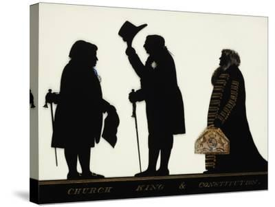 Church, King and Constitution, Silhouette on Glass-Charles Rosenberg-Stretched Canvas Print