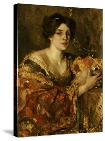 The Fortune Teller, Miss Jane Aitken-Edward Arthur Walton-Stretched Canvas Print