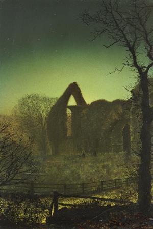 Bolton Abbey-John Atkinson Grimshaw-Stretched Canvas Print